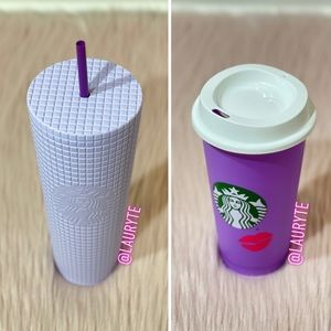 Starbucks Purple Lilac Grid And Color Changing Cup